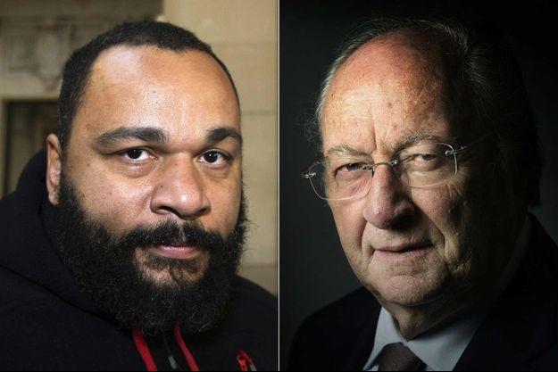 Dieudonné et l'ancien président du Conseil représentatif des institutions juives de France (Crif) Roger Cukierman.