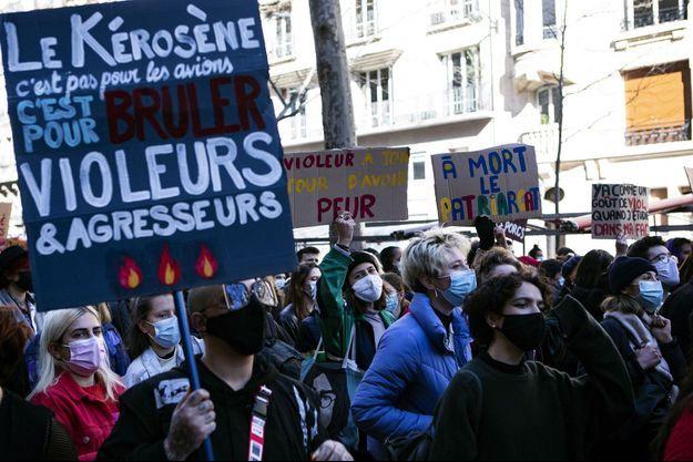 Manifestation à Paris, le 6 mars 2021.