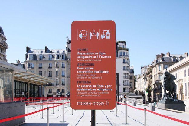 L'entrée du musée d'Orsay, à Paris.