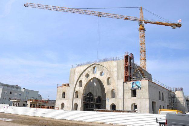 Photo prise fin mars 2021. La nouvelle mosquée de Strasbourg, une affaire qui a enflammé les rapports entre la mairie écologiste et le gouvernement, sur fond de tensions avec Ankara.