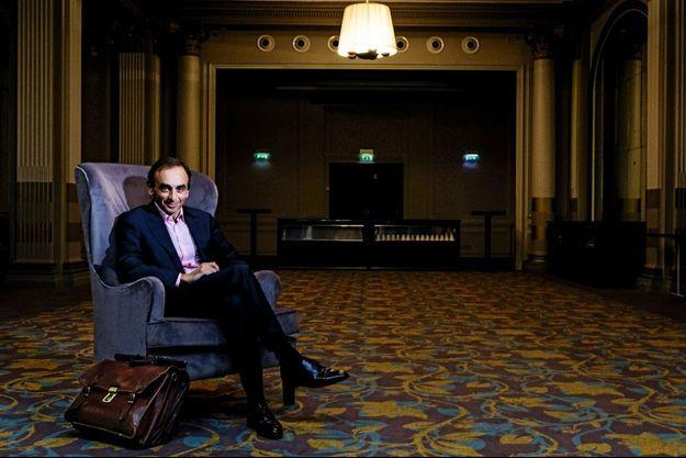 Eric Zemmour, le 23 octobre 2014 à l'hôtel Paris Marriott Opera Ambassador.