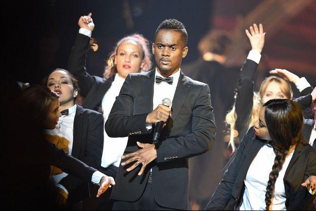 Le rappeur Black M aux Victoires de la Musique, en février 2015.
