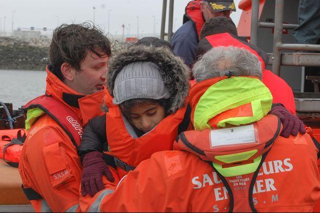 Des migrants avaient déjà été sauvés des eaux le 1er avril dernier.