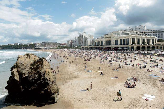 La grande plage de Biarritz, le 13 août.