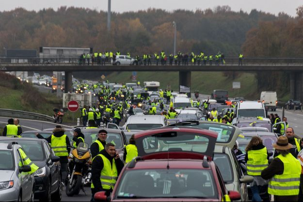 La rocade autour de Rennes a été complètement bloquée.