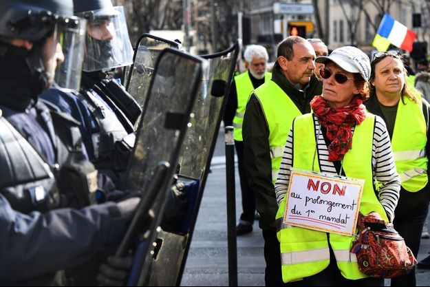 "Manifestation des ""gilets jaunes"" à Marseille samedi."