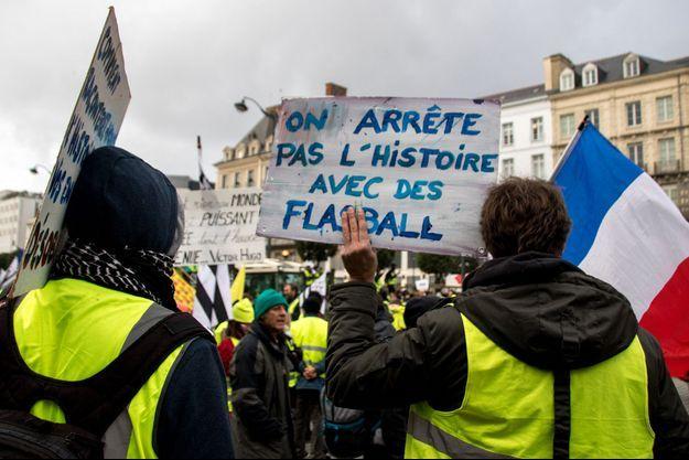 Aperçu de la mobilisation à Rennes samedi.