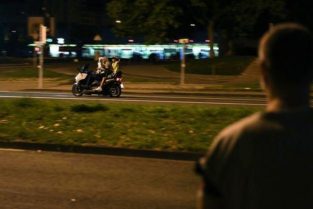 Avenue de l'Europe, à la limite entre Grenoble et Echirolles, dans la nuit du 6 septembre.