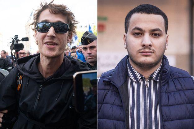 Gaspard Glanz, en octobre dernier, et Taha Bouhafs , photographié en février 2019. (montage)