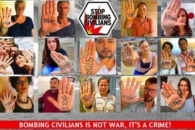 La campagne #stopbombing de Handicap International