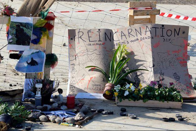 Hommage des opposants à Remi Fraisse à Sivens, dans le Tarn.