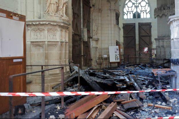L'incendie de la cathédrale de Nantes a eu lieu le 18 juillet 2020.