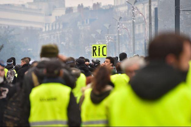 """Des """"gilets jaunes"""" à Nantes (image d'illustration)."""