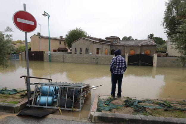 Au Muy, dans le Var, dimanche, après les inondations.