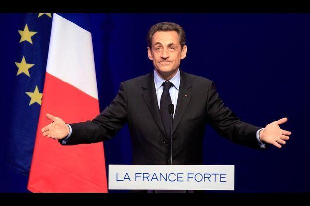 Nicolas Sarkozy, le soir du premier tour.