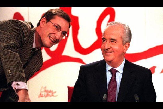 Nicolas Bazire et Edouard Balladur en 1995.