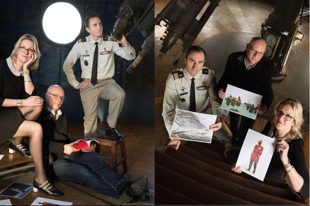Les auteurs d'ouvrages de science-fiction Virginie Tournay et Laurent Genefort font partie de la Red Team sous la supervision du commandant Jean-Baptiste Colas.