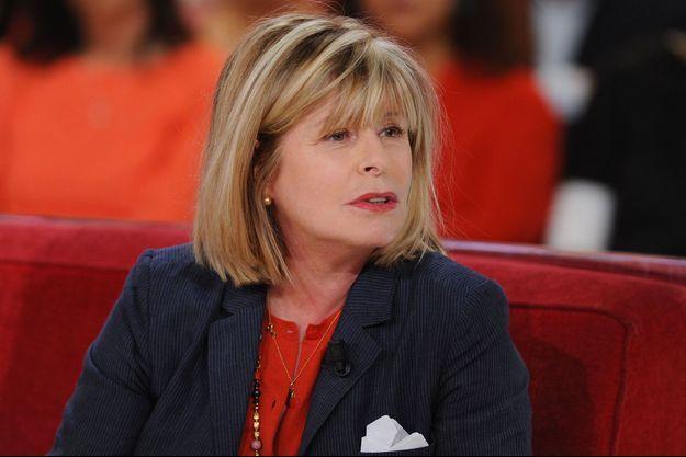 "Katherine Pancol à ""Vivement dimanche"", en 2014."