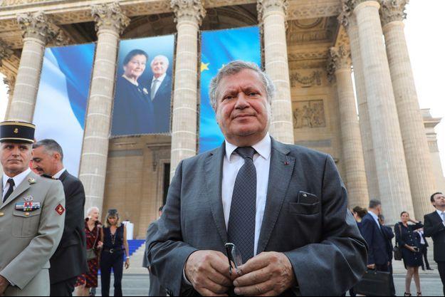 Jean Veil lors de l'entrée au Panthéon de Simone et Antoine Veil, le 1er juillet 2018.