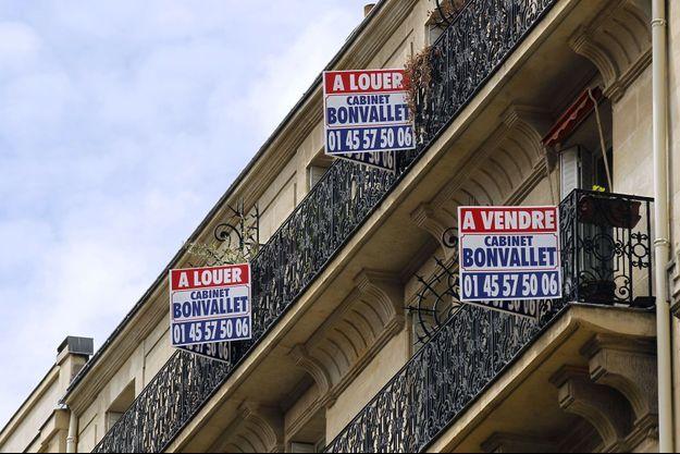 Appartements en location à Paris, en juin 2012.
