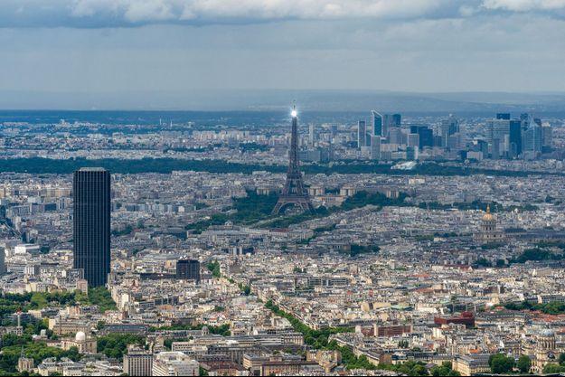 Vue aérienne de Paris. L'encadrement des loyers vient d'être rétabli dans la capitale.