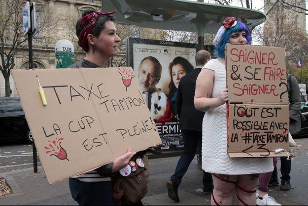 Une manifestation avait eu lieu le 11 novembre dernier à Paris contre la taxe tampon.