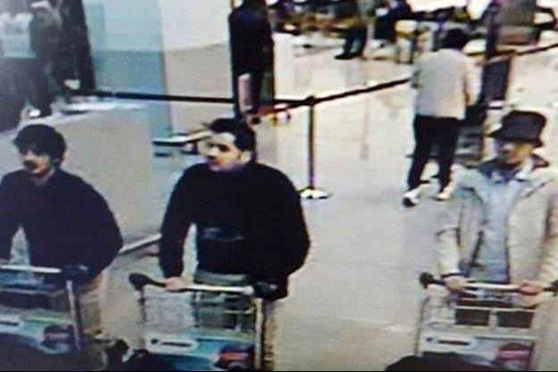 Les assaillants de l'aéroport de Bruxelles-Zaventem.