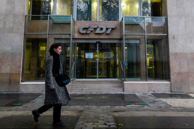 Le siège de la CFDT en décembre 2018 (photo d'illustration)