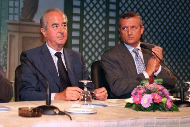 Edouard Balladur et François Léotard en 1997