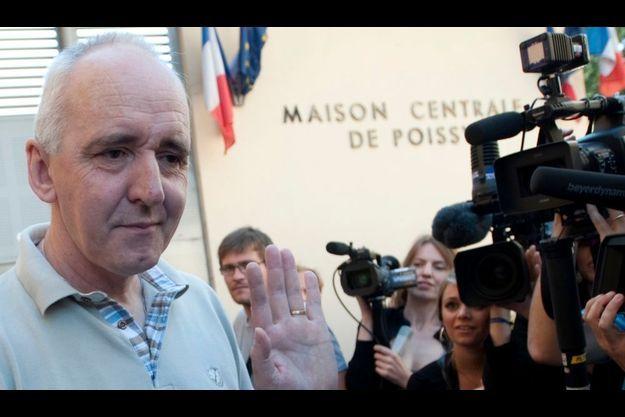 Dany Leprince lors de sa première remise en liberté, le 8 juillet 2010.