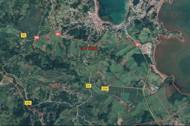 Vue satellite de La Martinique