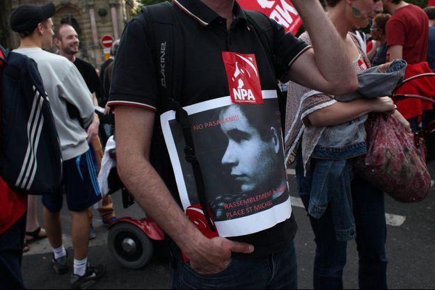 Manifestation en hommage à Clément Méric à Paris.
