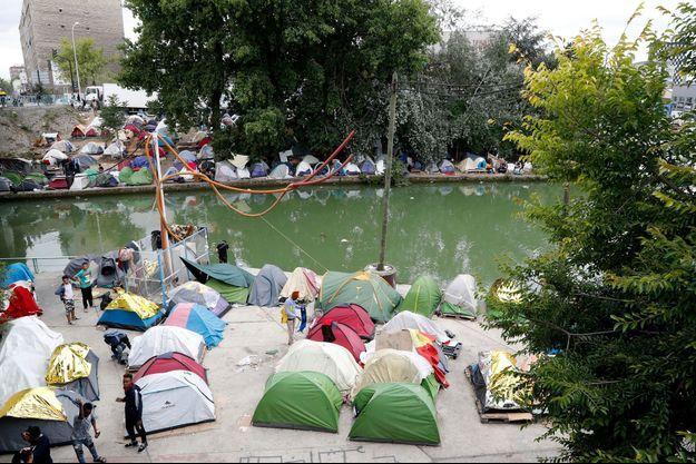 Le campement d'Aubervilliers.