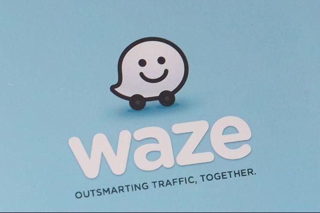 Le logo de Waze.