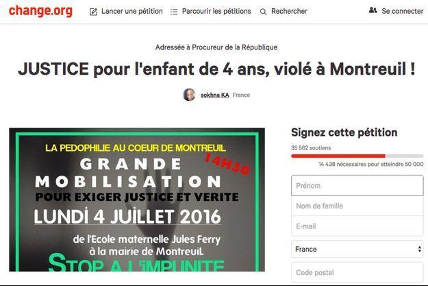 La pétition a recueilli plus de 35.000 signatures.
