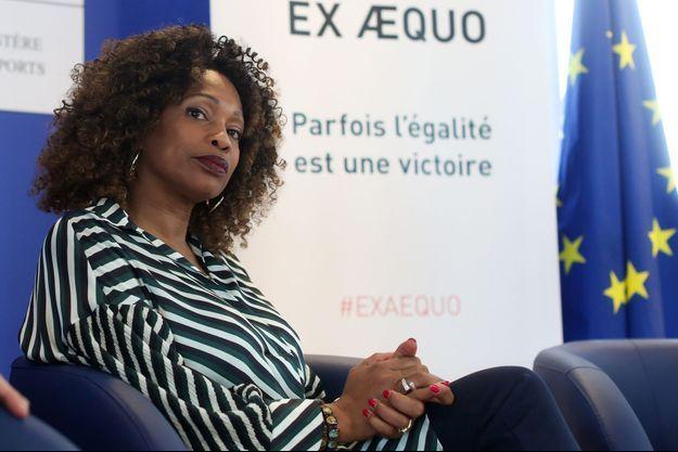 Laura Flessel lors du lancement de la campagne du ministère des Sports contre les discriminations.