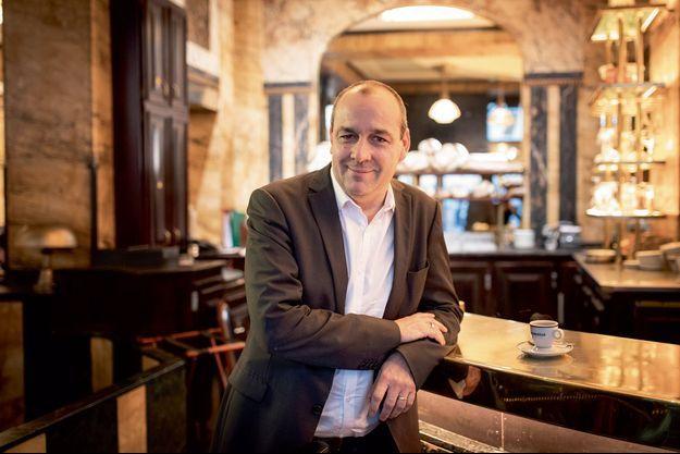 Laurent Berger le 29 novembre dans un café du IIe arrondissement de Paris.