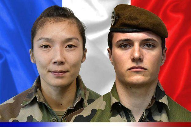 Le sergent Yvonne Huynh et le brigadier Loïc Risser ont été tués samedi dans le nord-est du Mali dans une attaque à l'engin explosif improvisé.
