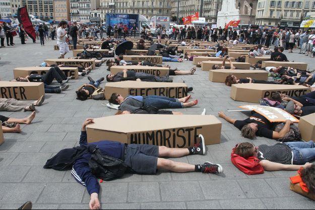 Les intermittents ont manifesté le 18 juin à Marseille.