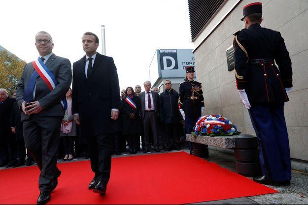 Le président de la République Emmanuel Macron lors de la cérémonie des commémorations du 13-Novembre.