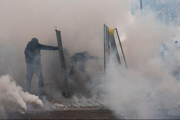 Manifestation des «gilets jaunes» à Paris le samedi 19 novembre 2019.