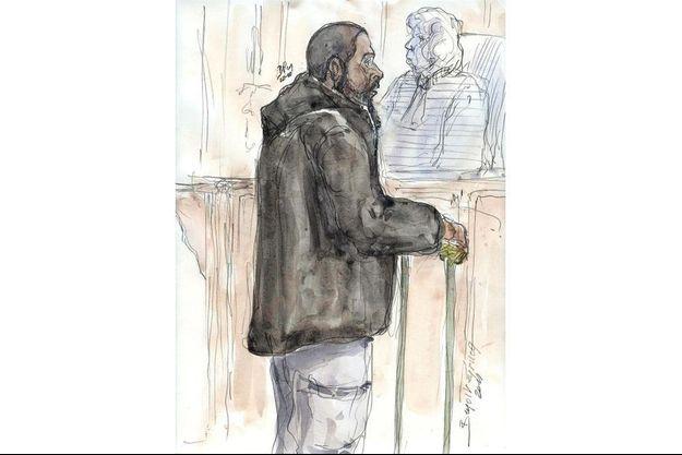 Peter Cherif sur un dessin réalisé en janvier 2011.