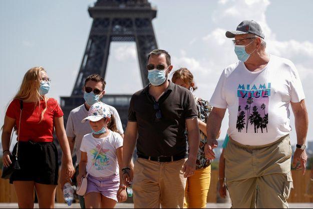 Auparavant, le masque était obligatoire uniquement dans certaines parties de la capitale.
