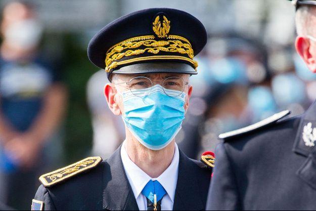 Le préfet de police de Paris, Didier Lallement, ici en septembre lors d'une cérémonie à Vélizy.