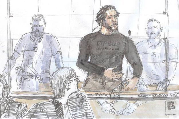 Le jihadiste français Tyler Vilus est jugé à Paris.