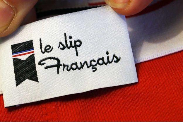 Une étiquette Le Slip Français (image d'illustration).