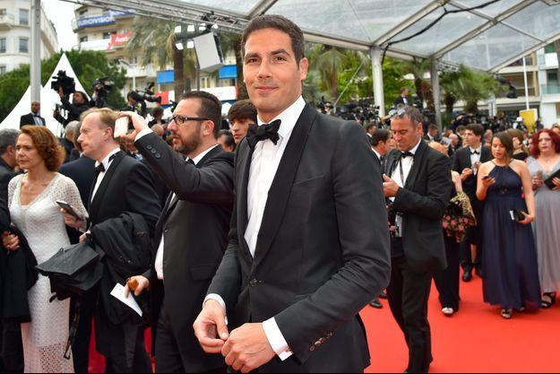 Mathieu Gallet le 14 mai sur le tapis rouge du festival de Cannes.