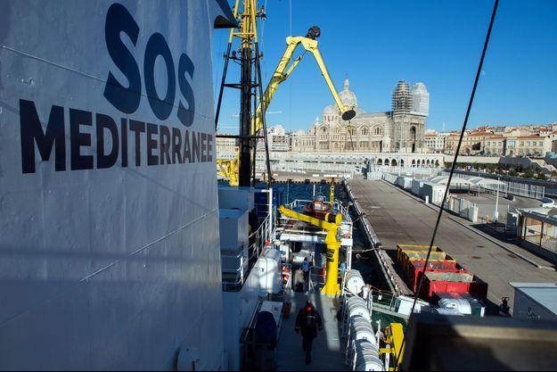 Le bateau de l'Aquarius affrété par SOS Méditerranée.