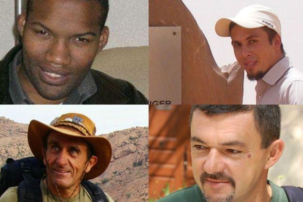 De gauche à droite, de haut en bas : Thierry Dol, Pierre Legrand, Daniel Larribe et Marc Féret.