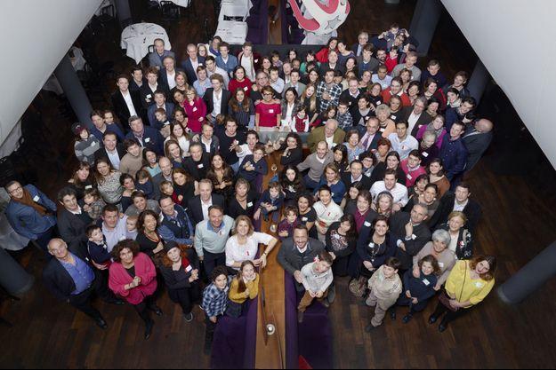De 9 mois à 96 ans, les 200 membres de la famille Servan-Schreiber sont réunis à l'Alcazar, un restaurant de Saint-Germain-des-Prés, le samedi 3 janvier.